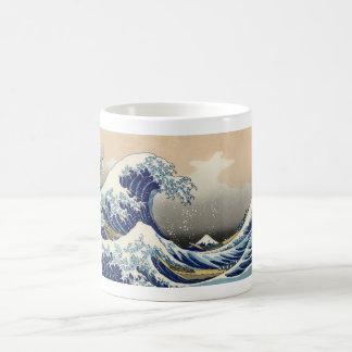Vintage Mount Fuji and Wave Coffee Mug