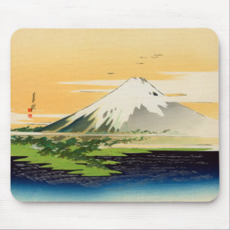 Vintage Mount Fuji Japanese Woodblock Print Mouse Pad
