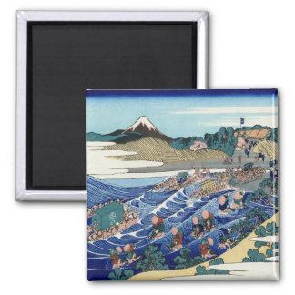 Vintage Mount Fuji Painting Magnet