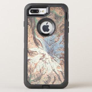 Vintage Mount Rainier Topographical Map Washington OtterBox Defender iPhone 8 Plus/7 Plus Case
