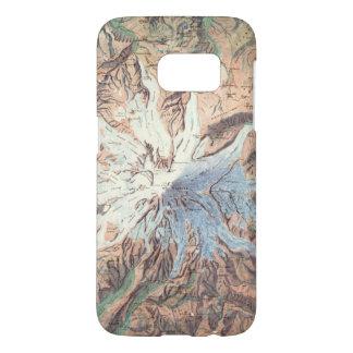 Vintage Mount Rainier Topographical Map Washington Samsung Galaxy S7 Case