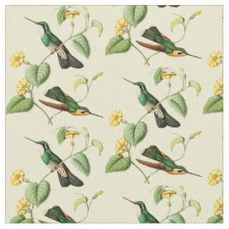 Vintage Mountain Gem Hummingbird Fabric