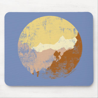 Vintage Mountain Hiking Outdoor Mouse pad