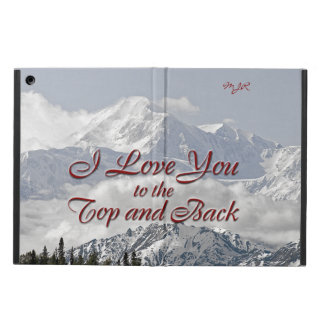 Vintage Mountains: I Love You to the Top and Back iPad Air Covers