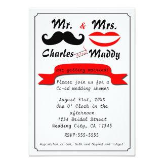 Vintage Moustache Mr. & Mrs. Wedding Invitations