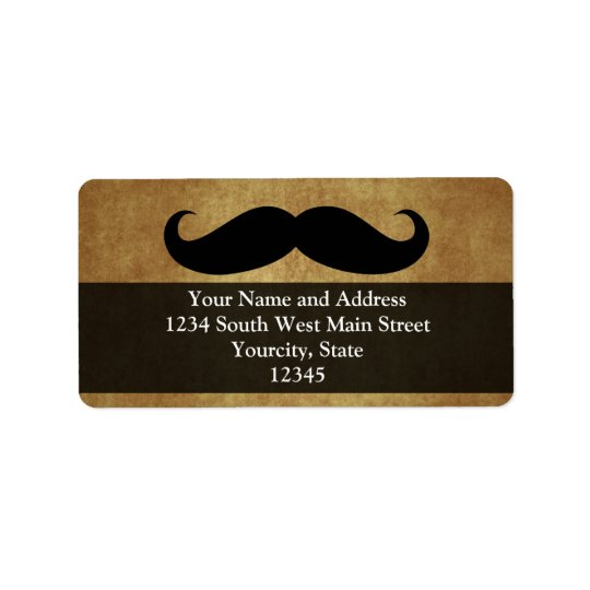 Vintage Moustache w/Custom Text