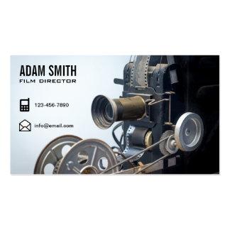 Vintage Movie Camera Professional Film Director Business Card