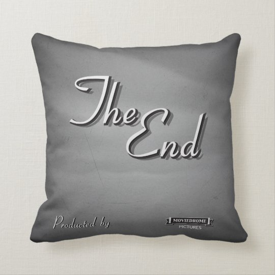 Vintage Movie Credit Throw Pillow