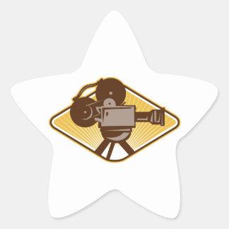 Vintage Movie Film Camera Retro Sticker