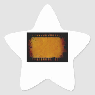 Vintage movie film stripe star sticker
