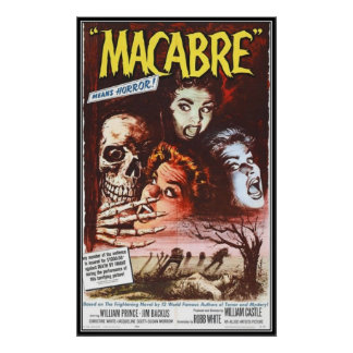 Vintage movie horror - poster