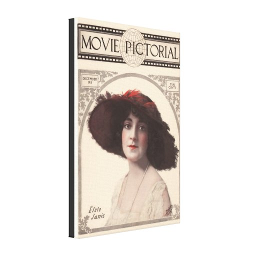 Vintage Movie Pictorial Magazine Cover Gallery Wrapped Canvas