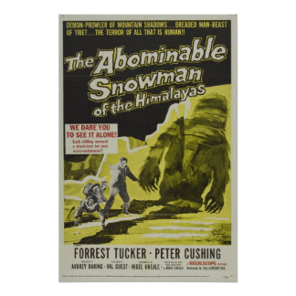 VINTAGE MOVIE POSTER - THE ABOMINABLE SNOWMAN