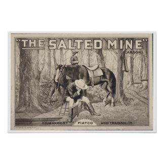 VINTAGE MOVIE POSTER ~ The Salted Mine