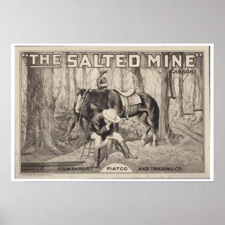 VINTAGE MOVIE POSTER ~ The Salted Mine