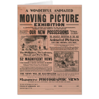 Vintage Moving Picture Exhibition Card