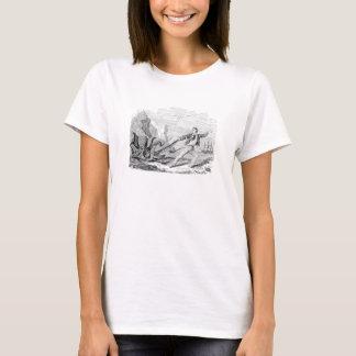 Vintage Mr. Beale Pouple Octopus Template Blank T-Shirt