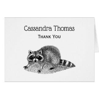 Vintage MSked Raccoon Card