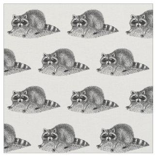 Vintage MSked Raccoon Fabric