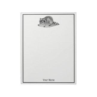 Vintage MSked Raccoon Notepad
