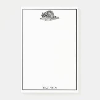 Vintage MSked Raccoon Post-it Notes