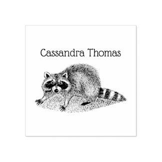 Vintage MSked Raccoon Rubber Stamp