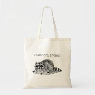 Vintage MSked Raccoon Tote Bag