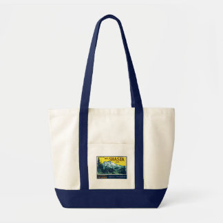 Vintage Mt Shasta California Pears Label Tote Bag