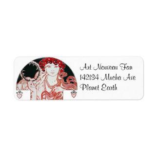Vintage Mucha Return Address Label