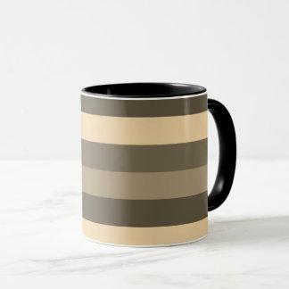 Vintage mug with brown stripes