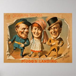 Vintage Muggs Landing Theatre Poster