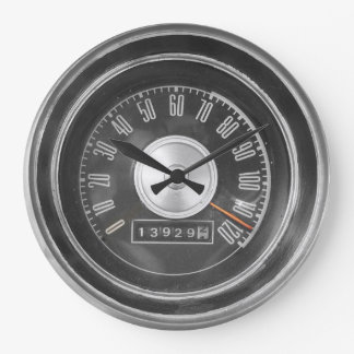 Vintage Muscle Car Speedometer Wall Clock