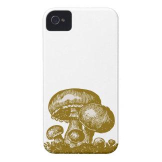 Vintage mushroom print foodie shroom sketch case