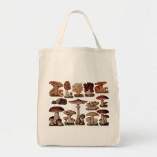 Vintage Mushroom Tote Bag