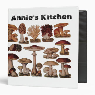 Vintage Mushroom Vegan Healthy Recipe Binder