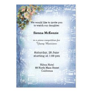 """Vintage Music 5"""" X 7"""" Invitation Card"""