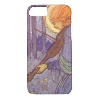 Vintage Music, Angel Playing a Violin in a Forest iPhone 8/7 Case