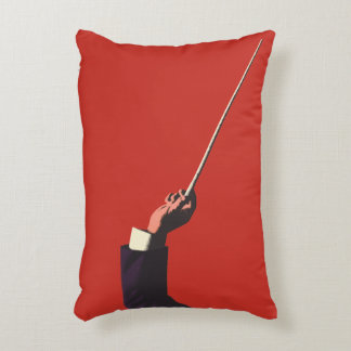 Vintage Music, Conductor's Hand Holding a Baton Decorative Pillow