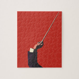 Vintage Music, Conductor's Hand Holding a Baton Jigsaw Puzzle
