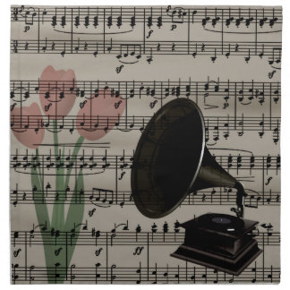 Vintage music design napkin