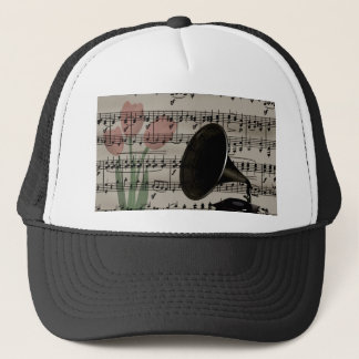 Vintage music design trucker hat