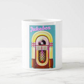 Vintage Music Jukebox Large Coffee Mug
