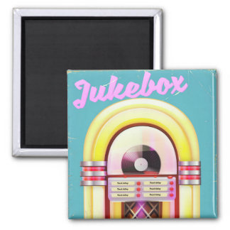 Vintage Music Jukebox Magnet