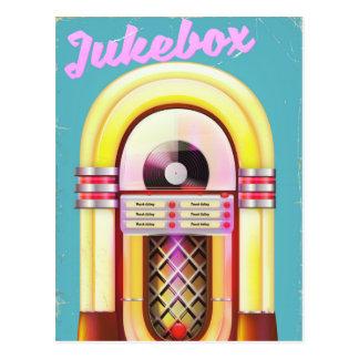 Vintage Music Jukebox Postcard