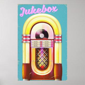 Vintage Music Jukebox Poster