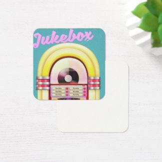 Vintage Music Jukebox Square Business Card
