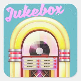 Vintage Music Jukebox Square Sticker