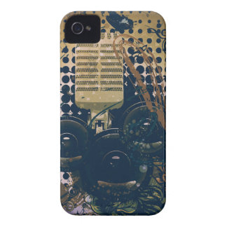 Vintage Music Microphone2 iPhone 4 Covers