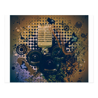 Vintage Music Microphone2 Postcard