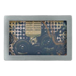 Vintage Music Microphone2 Rectangular Belt Buckles